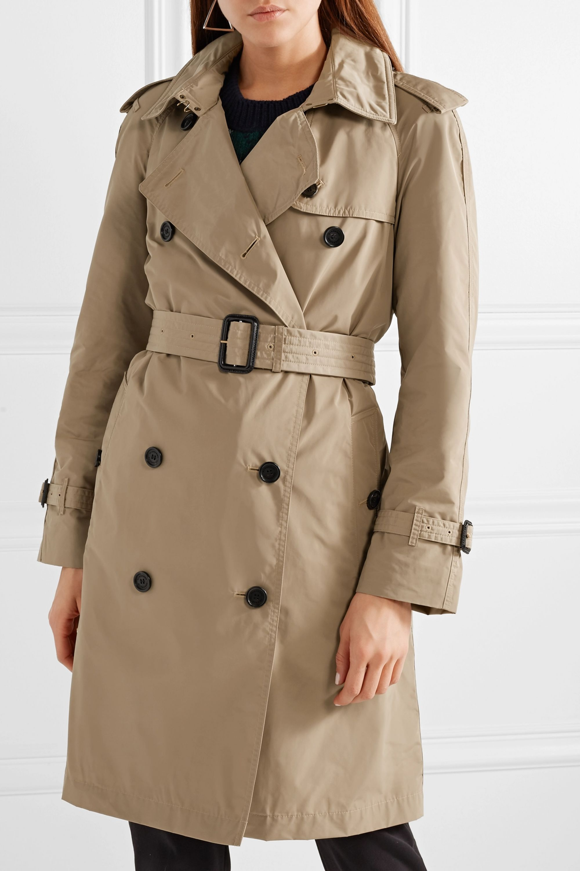 Burberry Trench-coat à capuche en tissu imperméable The Amberford
