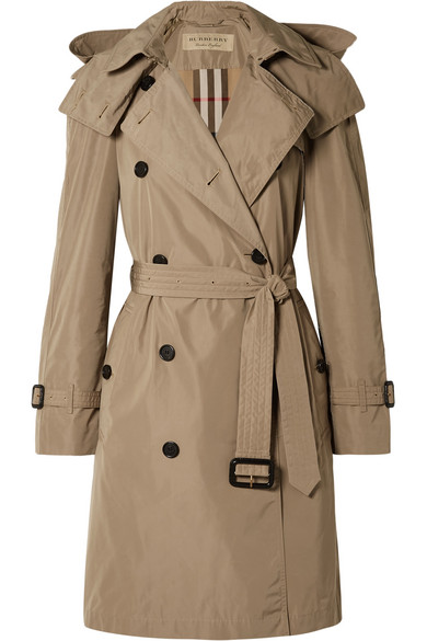 Burberry   The Amberford hooded shell trench coat   NET-A-PORTER.COM 66141c2a7d