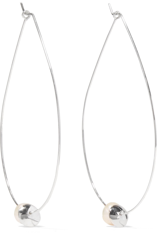 Dinosaur Designs Sterling silver pearl earrings