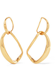 Louise Olsen Large Liquid Chain gold-plated earrings