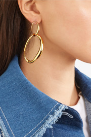 Liquid Chain gold-plated earrings