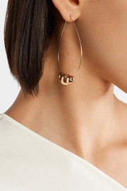 Organic Ball gold-plated hoop earrings