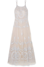 Celestine embroidered tulle nightdress