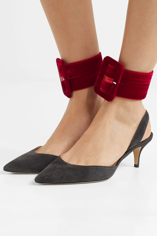 The Attico Velvet ankle straps