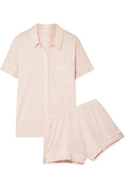 Harlow and Hazel Pima cotton and modal-blend jersey pajama set