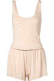 Leucadia open-back stretch-jersey playsuit