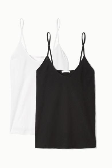 Skin Essentials Set aus zwei Tops aus Pima-Baumwoll-Jersey
