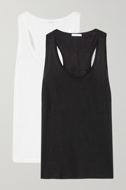 Skin Set of two organic Pima cotton-jersey tanks
