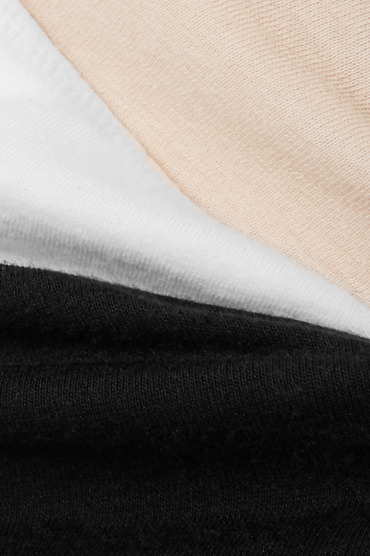 Skin Set of three organic Pima cotton-jersey briefs