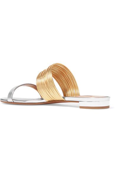 Aquazzura Rendez Vous Sandalen aus Metallic-Leder Amazon Günstiger Preis Verkauf Browse Online-Verkauf Online Zum Verkauf Footlocker rTsODdEc