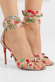 All Tied Up printed canvas sandals