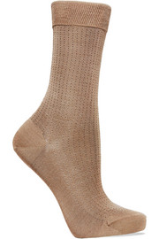 Falke No.2 pointelle silk-blend socks