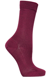 Falke No.2 pointelle-knit silk-blend socks