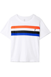 Middle Distance striped cotton-jersey T-shirt