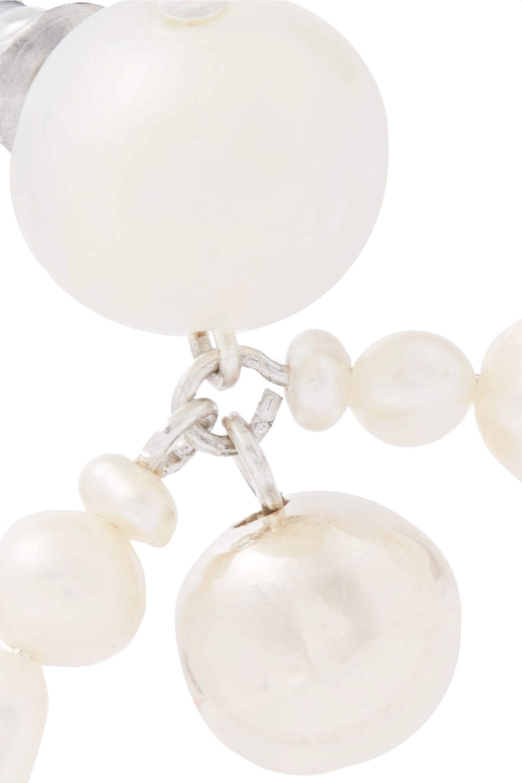 Dinosaur Designs Pearl earrings