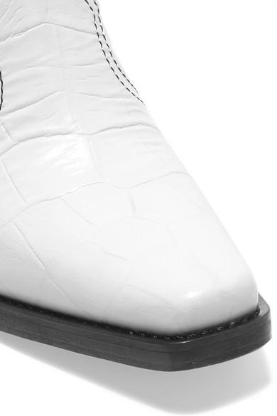 GANNI Callie Ankle Boots aus strukturiertem Leder