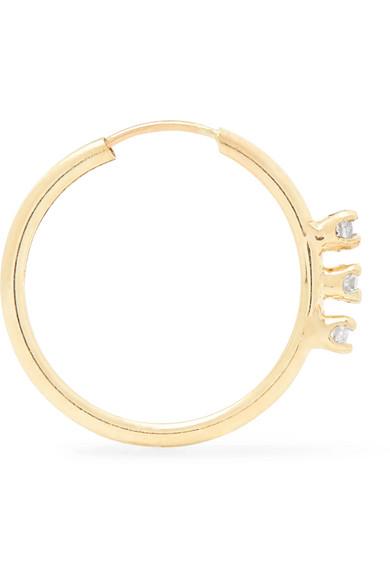 10-karat Gold, Pearl And Diamond Earring - one size Loren Stewart