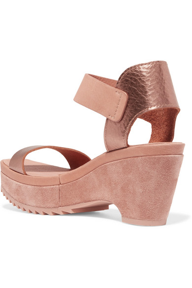 Pedro Garcia Franses Wedges aus Metallic-Leder