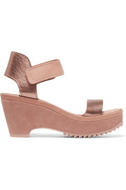Pedro Garcia Franses metallic leather wedge sandals