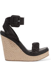 Teodora satin espadrille wedge sandals