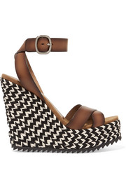 Pedro Garcia Taika leather wedge sandals