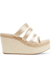 Dante satin espadrille wedge sandals