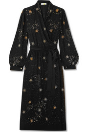 Stine Goya Micaela embellished crepe wrap dress