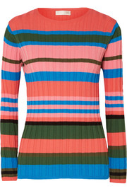 Leonor striped ribbed-knit sweater