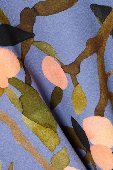 Stine Goya Kirsten Midikleid aus Crêpe de Chine mit Blumendruck