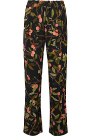 Stine Goya Vinnie printed georgette straight-leg pants
