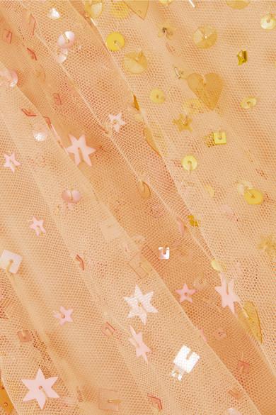 Stine Goya Madeline pailettenverzierte Robe aus Tüll