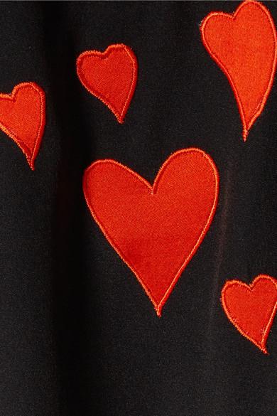 Stine Goya Virgo Seidenhemd mit Applikationen