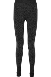 Eleonor Leggings aus Stretch-Jersey mit Glitter-Finish und Leopardenmuster