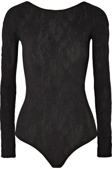 b586d49bba6d6 Wolford   Body string en dentelle de laine mélangée stretch Louise ...