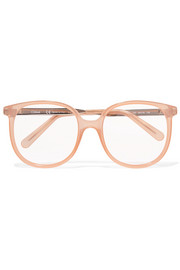 Chloé Myrte square-frame acetate and gold-tone optical glasses