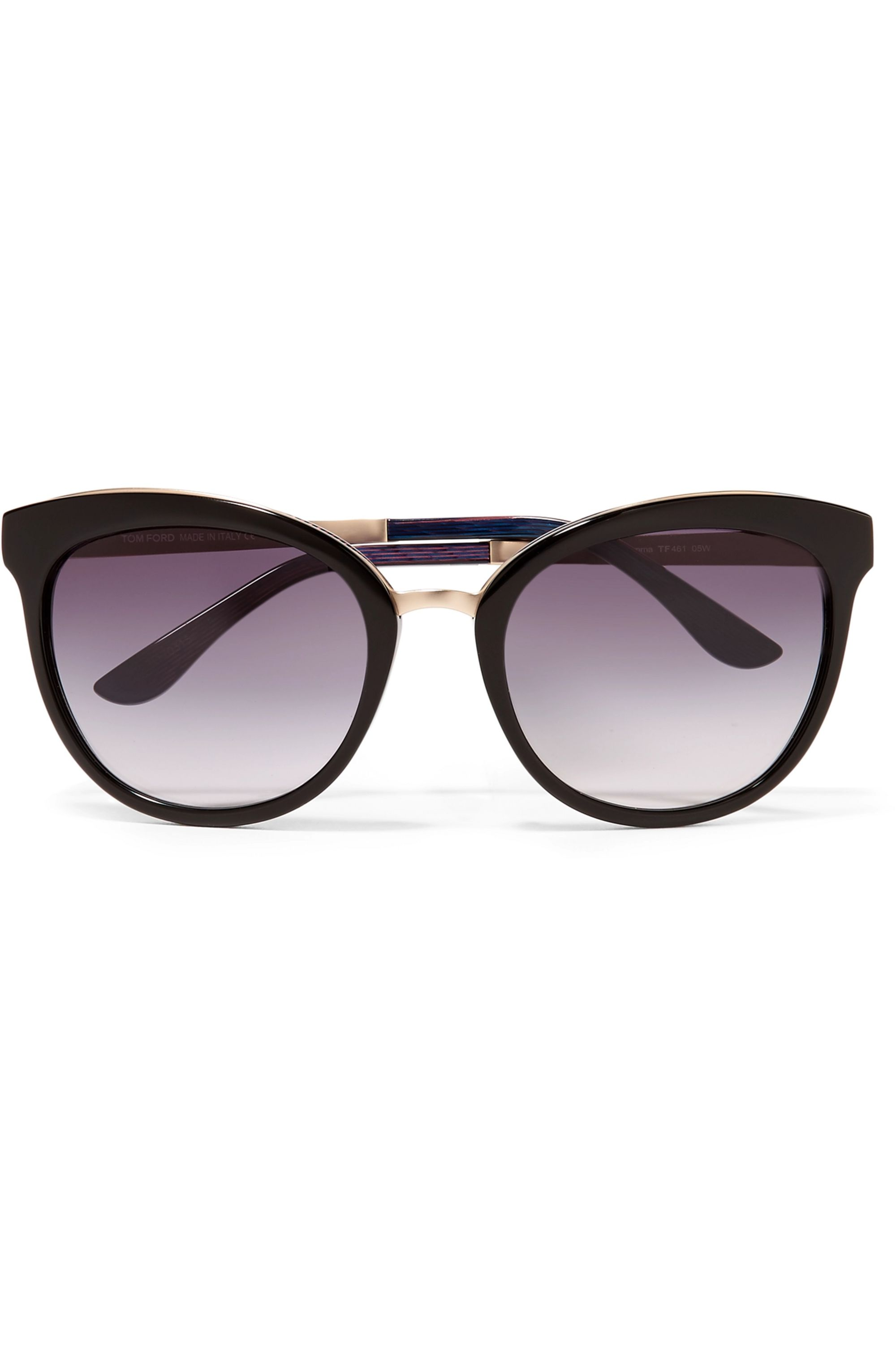 TOM FORD Cat-eye acetate and gold-tone sunglasses