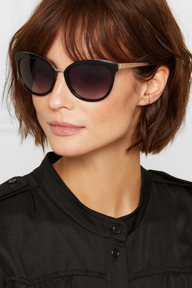 ce3685a56 TOM FORD   Cat-eye acetate and gold-tone sunglasses   NET-A-PORTER.COM