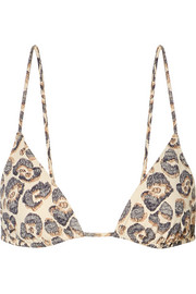 Mouna printed triangle bikini top
