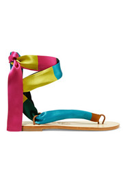 Eres + Nupié printed silk-satin sandals