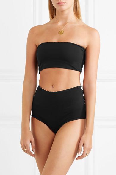 Marysia Corsica Bandeau-Bikini-Oberteil mit Knotendetails
