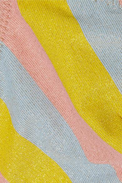Solid & Striped The Rachel Bikini-Oberteil mit Streifen und Glittereffekt