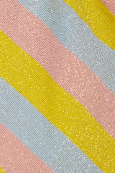 Solid & Striped The Rachel Bikini-Höschen mit Streifen und Glittereffekt