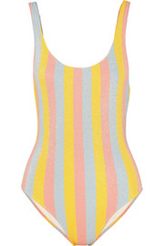 The Anne-Marie glittered striped swimsuit