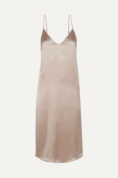 00f00000259a Anine Bing | Gemma silk-satin midi dress | NET-A-PORTER.COM