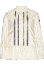 Moncler Mimet crochet-trimmed shell down jacket