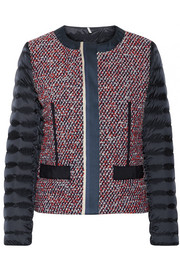 Moncler Ossau tweed and quilted shell down jacket