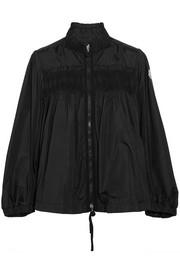 Moncler Ruffled shirred shell jacket