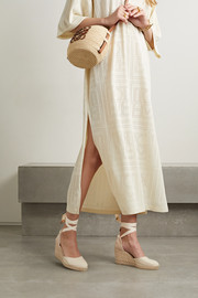 Carina 80 canvas wedge espadrilles