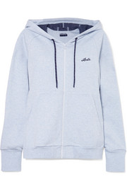 Synergy cotton-blend jersey hooded top