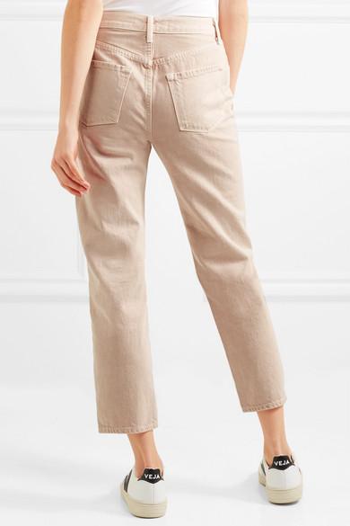 J Brand Wynne hoch sitzende Jeans mit geradem Bein